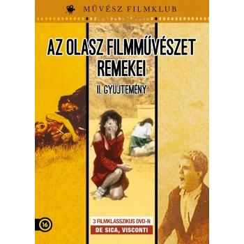 AZ OLASZ FILMMŰVÉSZET REMEKEI II. GYŰJTEMÉNY - DVD - /3 FILMKLASSZIKUS/ (2014)